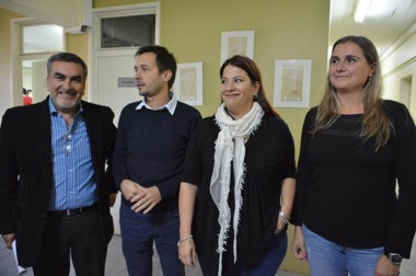 Cuatro. Desde la izquierda, Oscar Villarroel, Simón Cimadevilla, Florencia Rossi y Belén Bascovc.