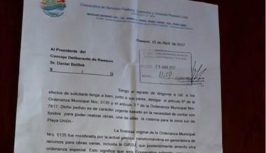 La nota que ingresó al Concejo por parte de los autoconvocados.