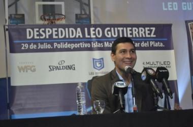 Leonardo Gutiérrez anunció su retiro del básquet profesional.