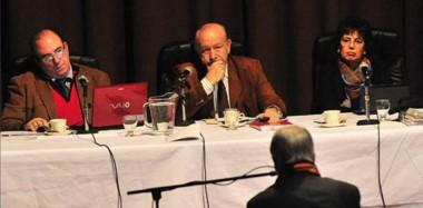 Trío. Desde la izquierda De Diego (ya jubilado), Guanziroli y Monella, que en la misma semana firmaron 44 condenas por narcotráfico en Chubut.