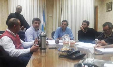 El encuentro entre el ministro de infraestructura y la Cooperativa.