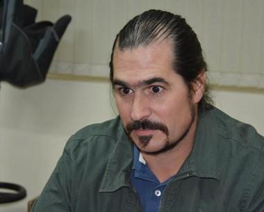 Sebastián Kidd, referente provincial del Incucai en Trelew, con Jornada