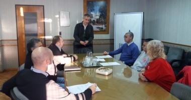 Gómez Lozano agradeció a los bomberos por su tarea durante la reciente crisis hídrica.