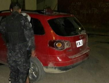 Uno de los rodados recuperados por los efectivos policiales locales.
