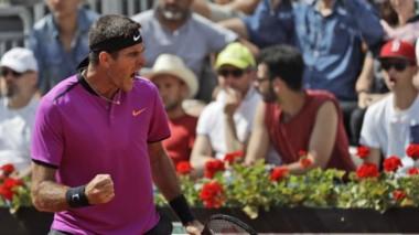 Del Potro fulminó a Nishikori en Roma y será cabeza de serie en Roland Garros.
