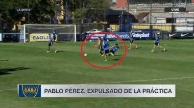 Guillermo echó de la práctica a Pablo Pérez por pegarle a un juvenil.