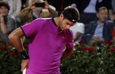 Djokovic no le dio oportunidades y eliminó a Del Potro en cuartos.