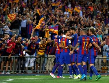 Messi, Neymar y Alcacer marcaron los goles del