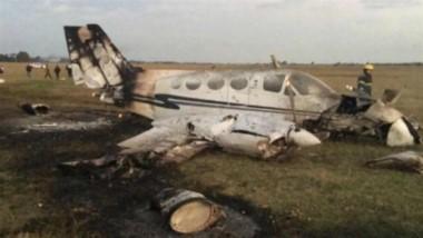 La avioneta cayó alrededor de las 17:30 cerca de la ruta 58, entre el penal de Ezeiza y el aeropuerto y en el caso interviene personal de bomberos de San Lucas.