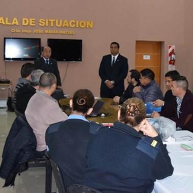 Autoridades promocionan la capacitación desde Jefatura de Policía.