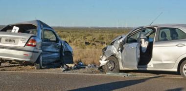 Uno de los impactos fue sumamente violento y a la altura del circuito de Safari. Una persona grave y daños en un VW Suran y un Ford Fiesta.