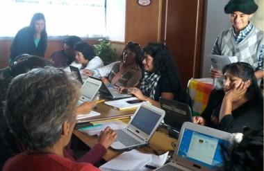 El encuentro fue presidido por Elisa Rupallán y tuvo lugar en la Biblioteca Pedagógica N° 2 de Trelew.