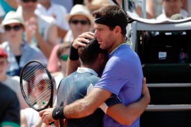 Las lágrimas de Almagro por una lesión y el gesto de deportividad de Del Potro.