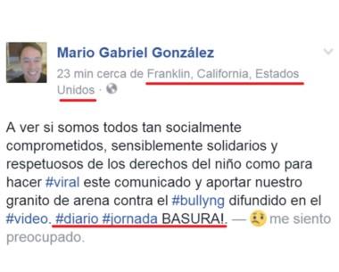 Enojado. González opina desde un descanso sin dudas merecido.