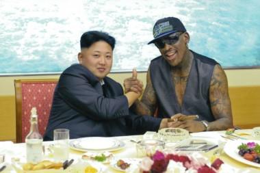 Dennis Rodman, ex NBA, uno de los pocos norteamericanos que Kim Jong-un acepta.