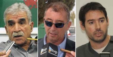 Dos a uno. Desde la izquierda, Antín y Báez negaron la investigación que según Albanesi, ya existe.