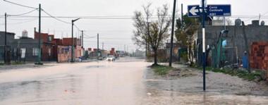 Postal del temporal. Algunas de las calles de la ciudad que sufrieron anegamientos.