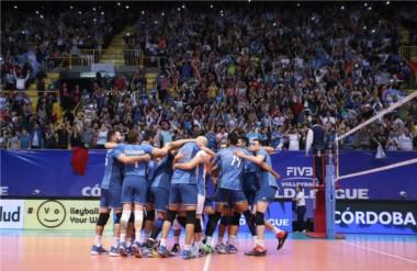 Historia en el Orfeo!!! Por primera vez en la historia de la World League, Argentina venció a Brasil.