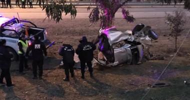 Las imágenes impactantes se difundieron por Twitter  minutos despupés del violento siniestro vehicular.