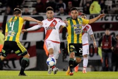 """Por el gol de Martinez Quarta, el """"Millo"""" metió un pie en la próxima Libertadores."""