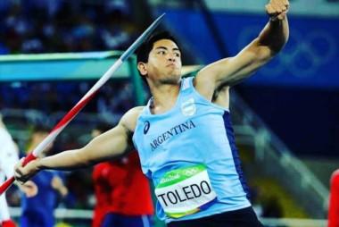 Braian Toledo conquistó su primer título sudamericano y la clasificación al Mundial de Londres! Lanzó 79,93.