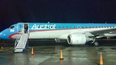 El avión debió aterrizar en Comodoro Rivadavia (foto @RamiroOuteda)