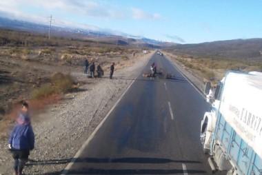 El corte es a la altura del desvío a El Maitén (foto @dannyesquel1)