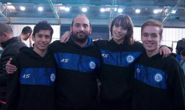 Juan Cuevas, el profe Facundo Avila, Julieta Lema y Mateo Fernández.