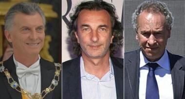 Los tres dueños de la empresa IECSA: Macri, Calcaterra y Marcelo Mindlin.