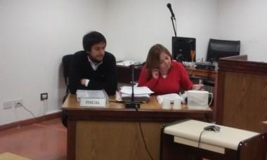 Fiscal Laura Castagno y el Funcionario Ezequiel Castro Albornoz,