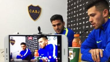 Rossi y Magallán hablaron con la prensa y expresaron sus ganas de ser campeones.