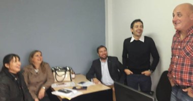 Gallichio recibió en Madryn al concejal del FpV Cimadevilla y al diputado provincial Leandro Espinosa.