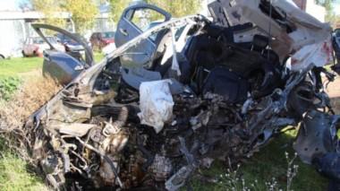 Trágico accidente entre Choele Choel y Río Colorado. (Foto: Río Negro).
