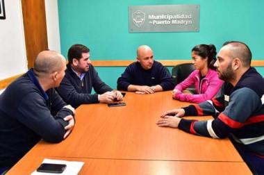 "Sastre se reunió con Ñonquepán donde dialogaron sobre el ""V Simposio PAtagónico"" que se acerca."