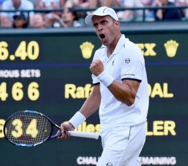 Nadal perdió con el veteranisimo Muller (34 años), en un partido épico. El sacador luxemburgués jugó el partido de su vida.