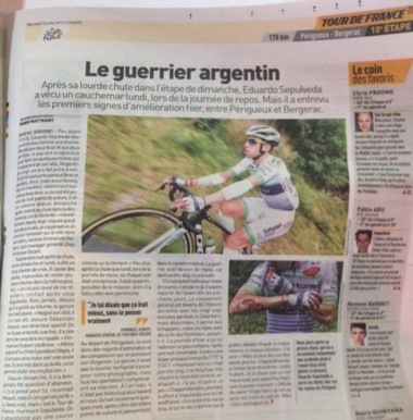 El diario L'Equipe le reconoce el alma de batallador al chubutense Sepúlveda.