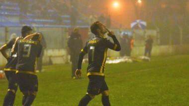 Con gol de Martín Michel, Santamarina venció 1-0 a Estudiantes (SL). (Foto: La Voz de Tandil)