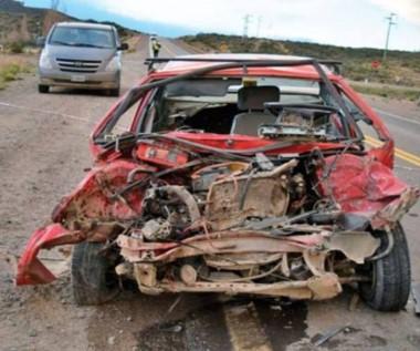 El accidente en el que resultó herida la niña ocurrió a pocos kilómetros de la ciudad (foto ADNSUR)