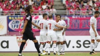 Sevilla ganó su primer partido de la era Berizzo en pretemporada en Japón.