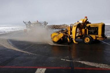 """El """"Operativo nieve"""" funcionó en el Aeropuerto."""