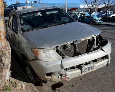 La camioneta Toyota Hilux protagonista de dos accidentes gravísimos.