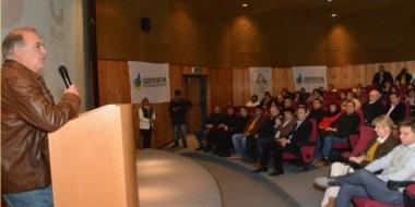Anuncio. Cúneo durante el discurso en el cual confirmó la proximidad del esperado proyecto de ampliación.