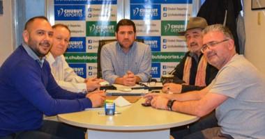 Walter Ñonquepán recibió en su despacho a Othar Macharashvili, Mariano Ferro y  Hernán Martínez.