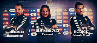 Beccacece fue presentado como DT de la Selección Argentina Sub 20.