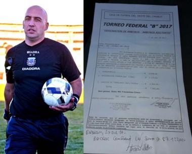 La polémica planilla de gastos arbitrales presentada por Herrero.