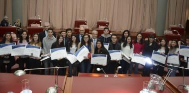 Alumnos destacados durante el ciclo lectivo 2016 del Nivel Medio de la provincia del Chubut, recibieron reconocimientos de Honor .