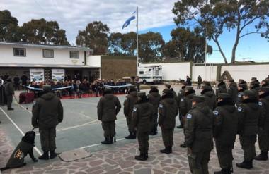 La agrupación XIV distrito Chubut de Gendarmería Nacional celebró su 79º aniversario.