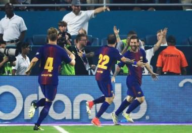 Messi, Rákitic y Piqué convirtieron los goles del equipo