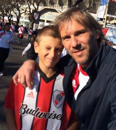 Luka y su papá Marcos Milinkovic, fanáticos del