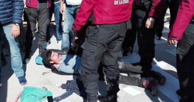 """Detenido. Uno de los manifestantes que en Capital Federal pidió por el """"lonko"""" pero terminó en la cárcel."""